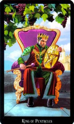 Dugan witches tarot pentakels Koning