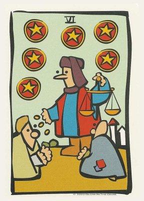 Ator Tarot Pentakels Zes