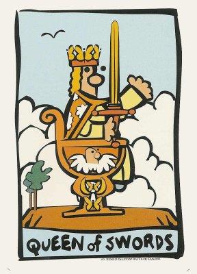 Ator Tarot Koningin van Zwaarden