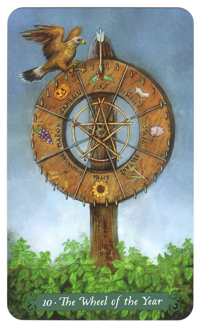 green witch tarotkaart rad van fortuin wheel of the year