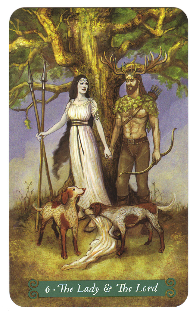 geliefden, lady and lord, green witch tarot