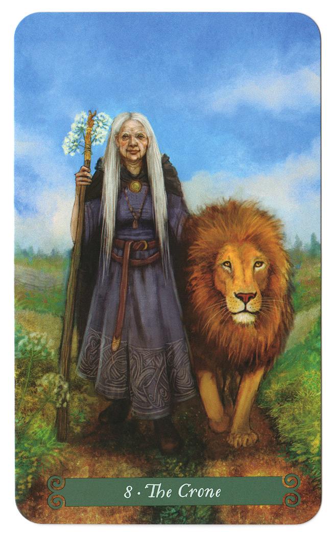 Green witch Tarot de Crone of wijze vrouw
