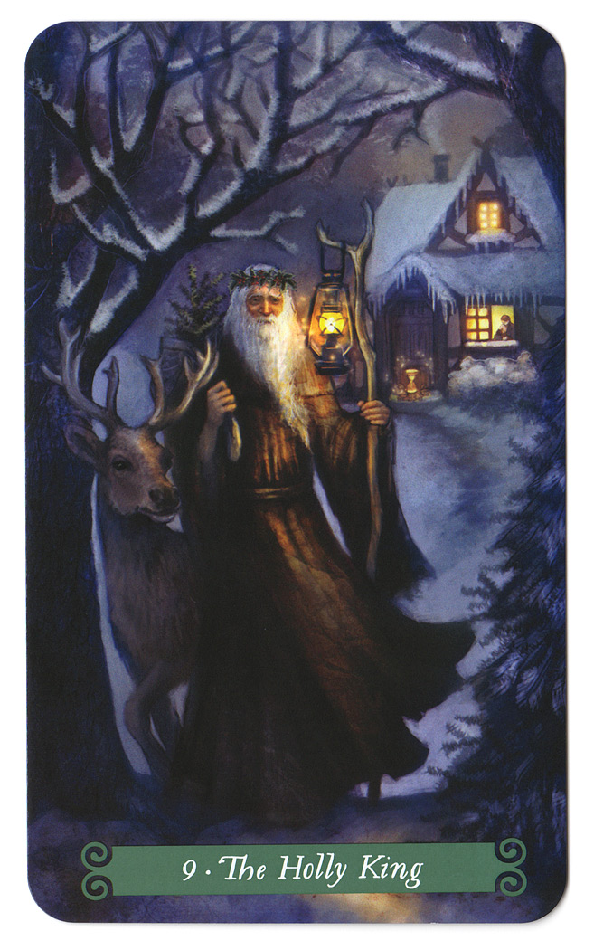 green witch tarot holly king hulstkoning