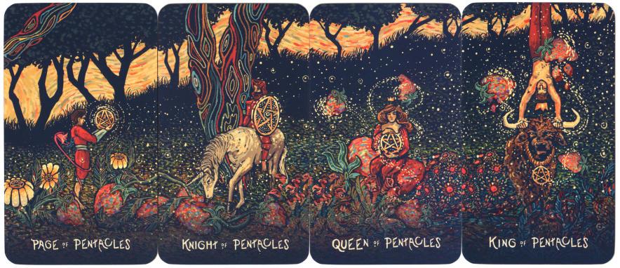 Hof tarotkaarten uit de prisma visions tarot deck
