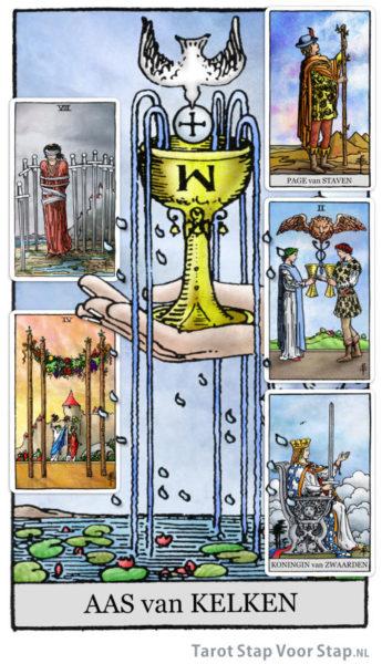 Tarotkaart koningin van zwaarden op het spirituele pad