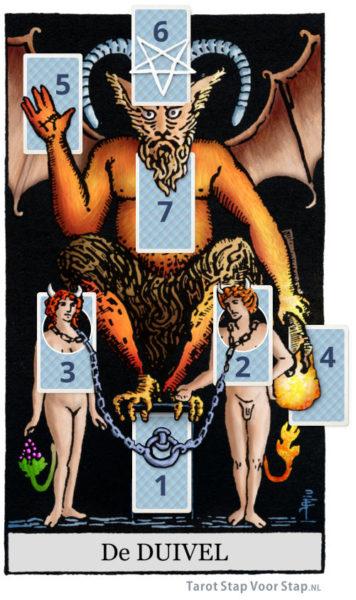 tarot lezing legging gebaseerd op tarotkaart De Duivel