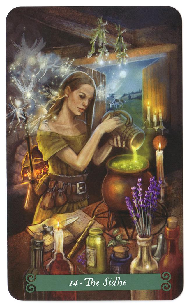 Green witch tarot 14 de Sidhe (Matigheid)