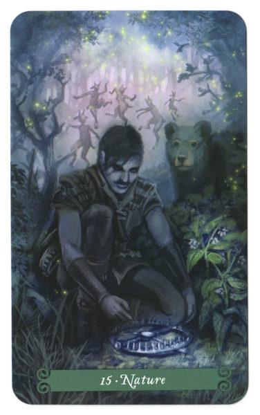 De Natuur of Duivel tarotkaart van de Green Witch Tarot