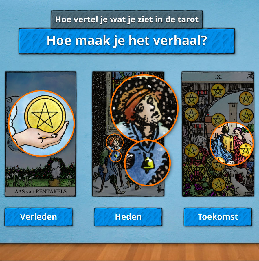 tarot hoe maak je een verhaal van de tarotkaarten onderling