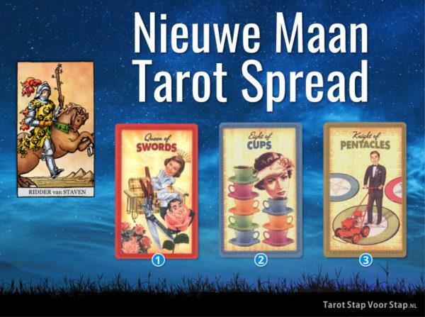Voorbeeld nieuwe maan tarot spread tarotlezing