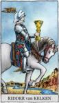 Tarotkaart Kelken Ridder - Op Zoek naar de Waarheid