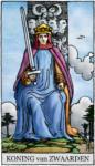 Tarotkaart Zwaarden Koning - Denker