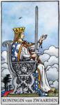 Tarotkaart Zwaarden Koningin - Rechtvaardig