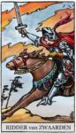 Tarotkaart Zwaarden Ridder - Popelt